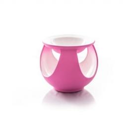 Kominek pastelowy kula - różowy