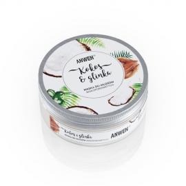 Anwen Kokos i Glinka - Maska do włosów niskoporowatych